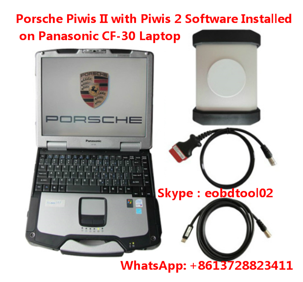 Porsche Piwis 2 with Piwis Software installed on Panasonic CF-30 laptop ready to use