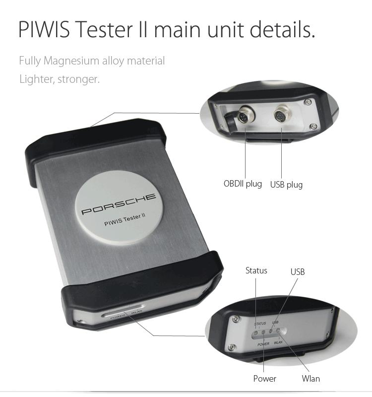 Porsche Piwis tester II main unit detail