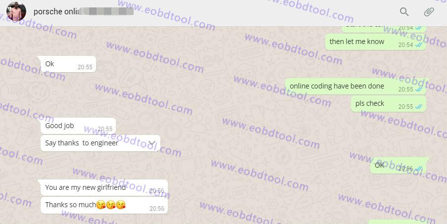 porsche online coding